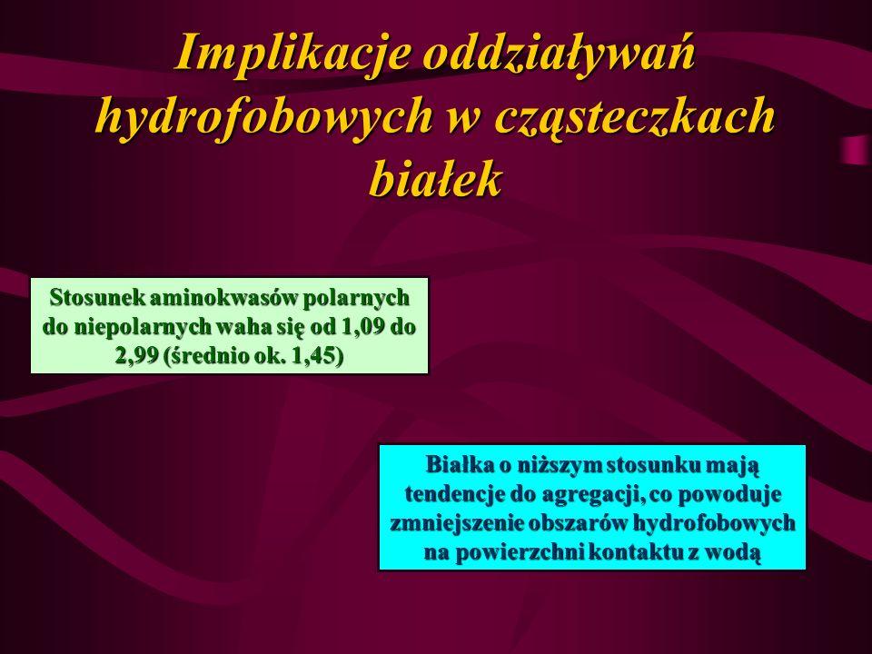 Implikacje oddziaływań hydrofobowych w cząsteczkach białek