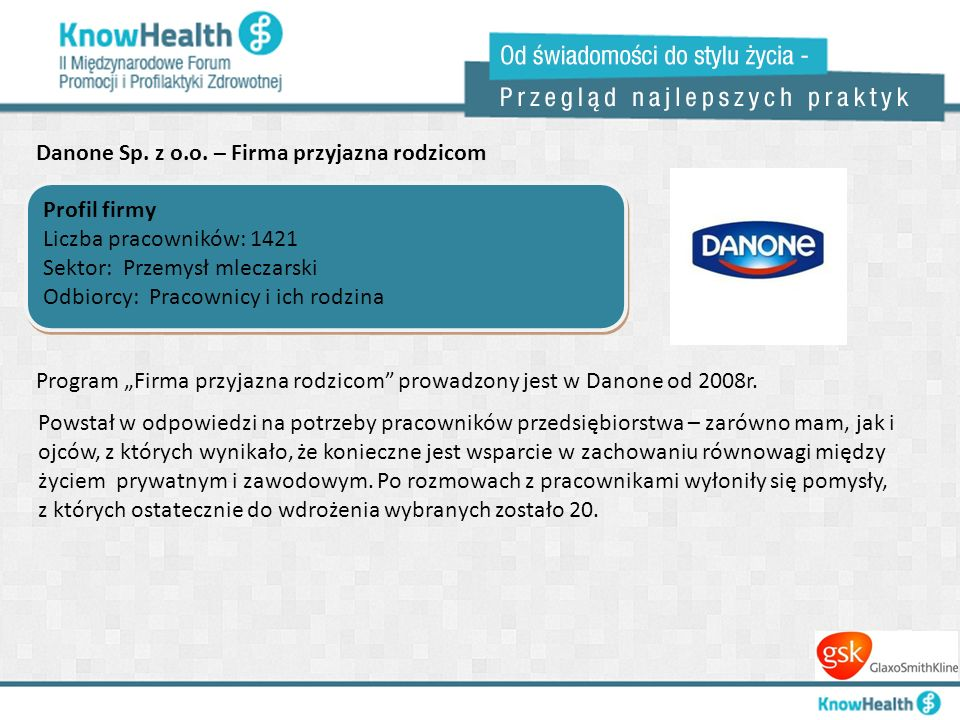 Danone Sp. z o.o. – Firma przyjazna rodzicom