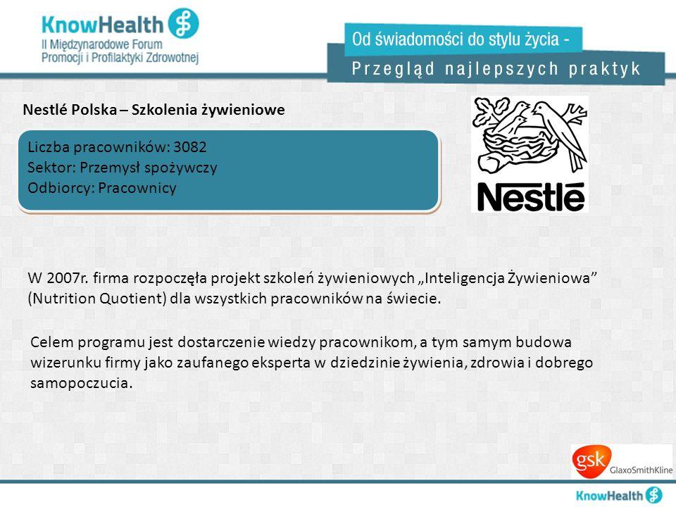 Nestlé Polska – Szkolenia żywieniowe