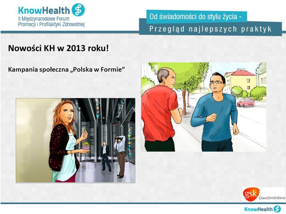 """Nowości KH w 2013 roku! Kampania społeczna """"Polska w Formie"""