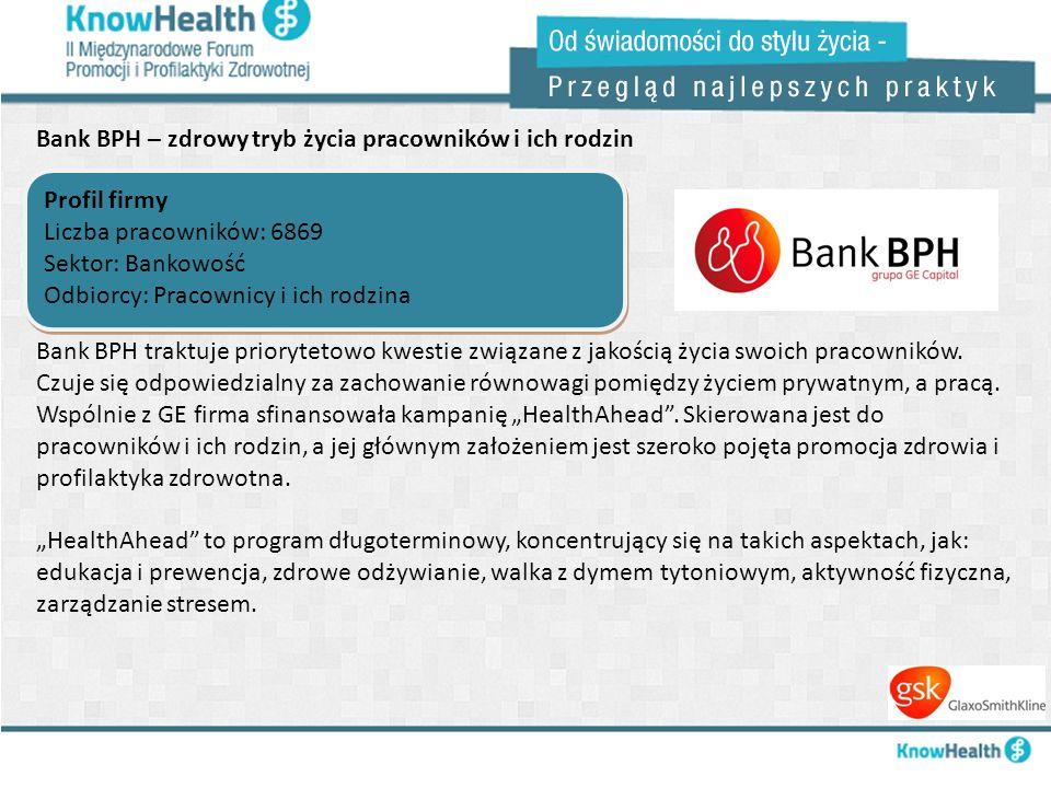Bank BPH – zdrowy tryb życia pracowników i ich rodzin