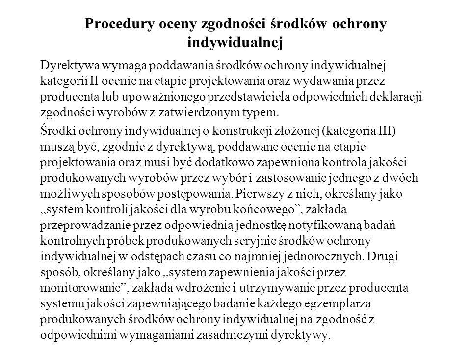 Procedury oceny zgodności środków ochrony indywidualnej