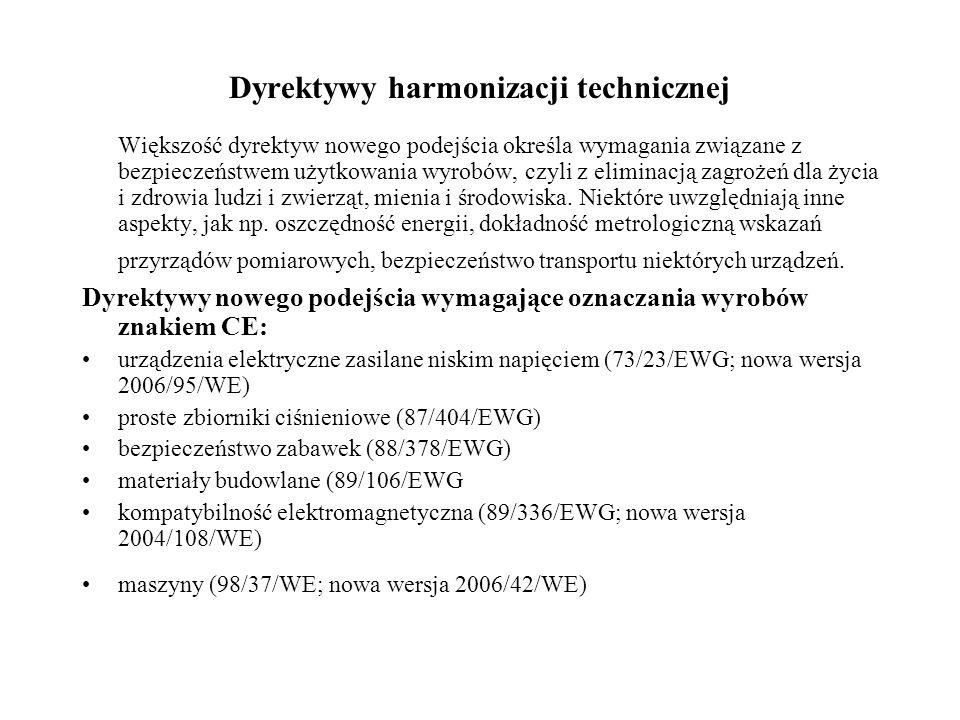 Dyrektywy harmonizacji technicznej