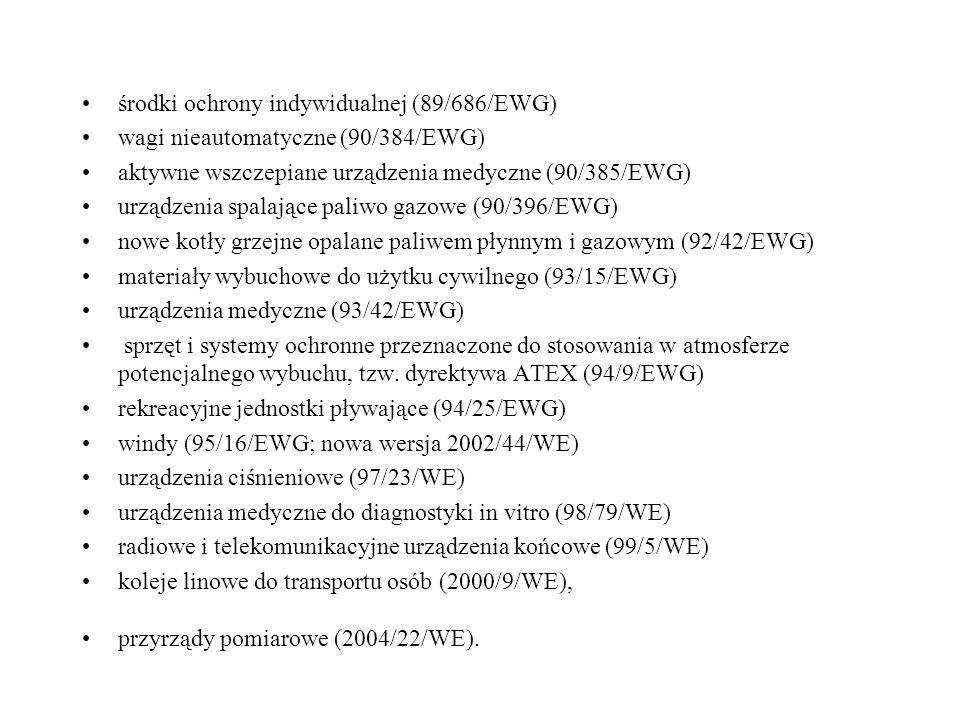 środki ochrony indywidualnej (89/686/EWG)