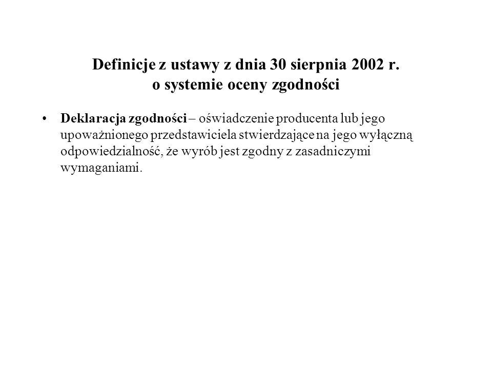 Definicje z ustawy z dnia 30 sierpnia 2002 r