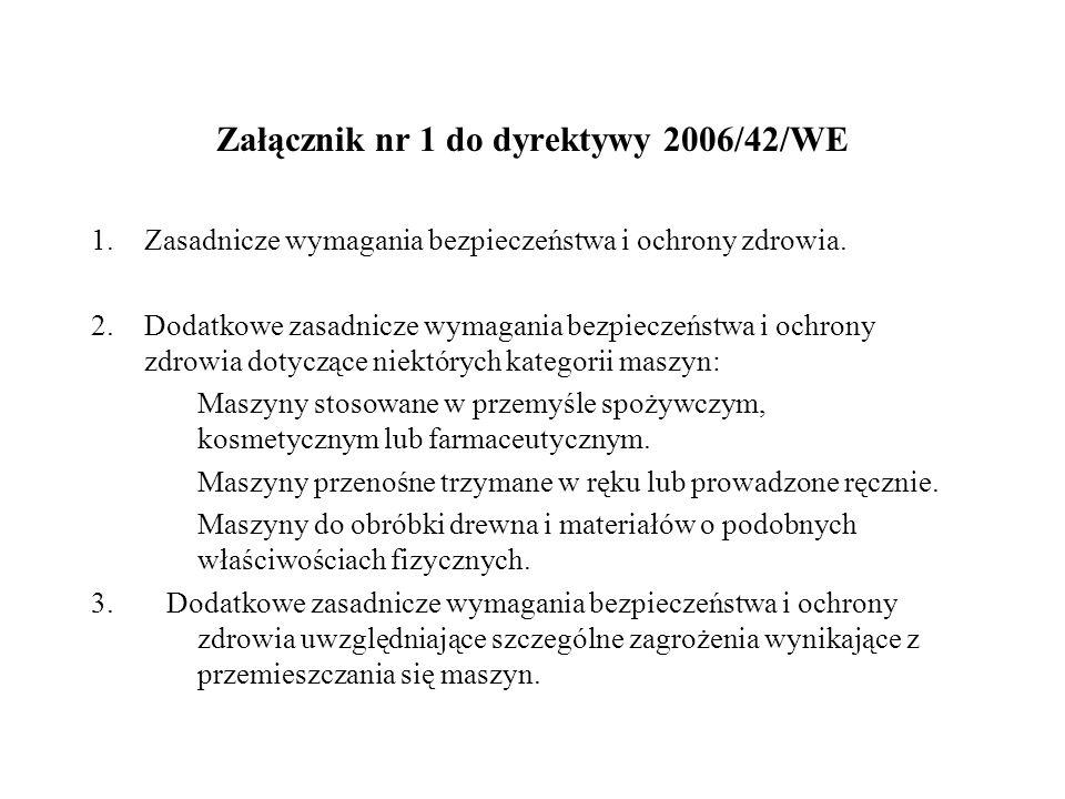 Załącznik nr 1 do dyrektywy 2006/42/WE