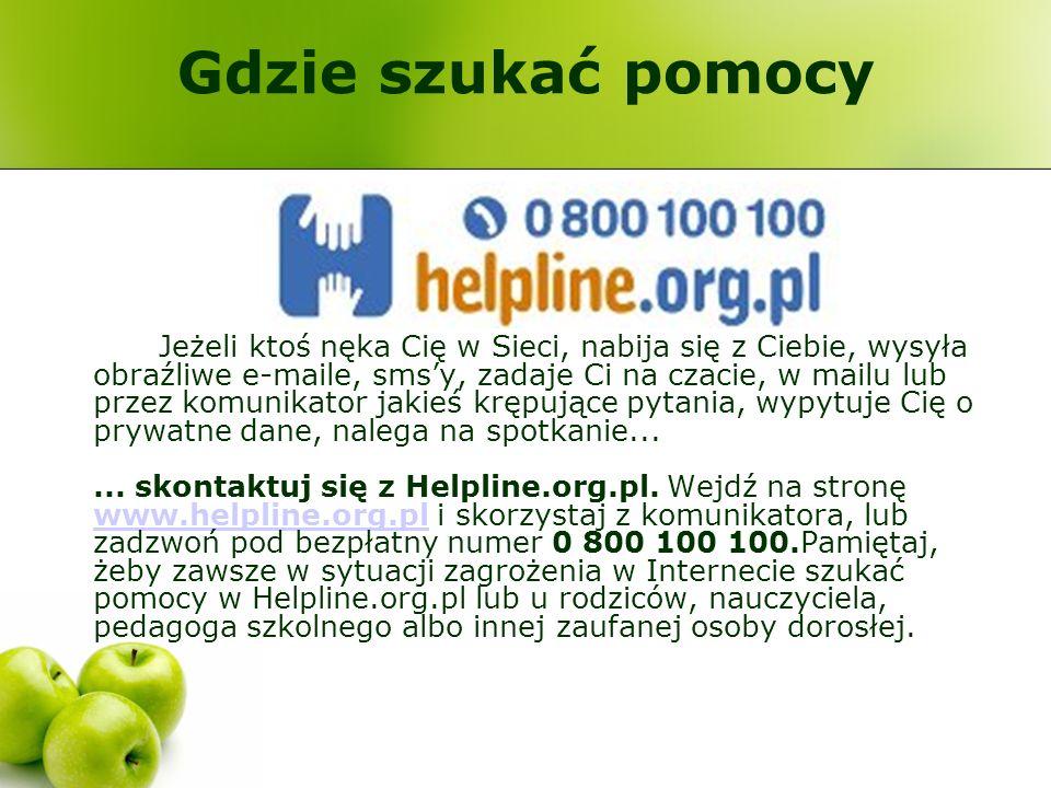 Gdzie szukać pomocy