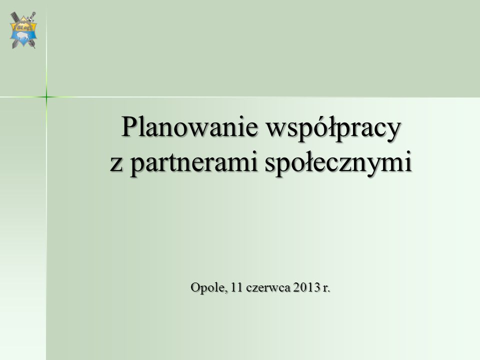Planowanie współpracy z partnerami społecznymi