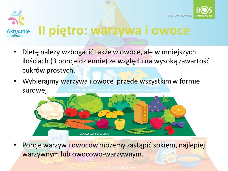 II piętro: warzywa i owoce