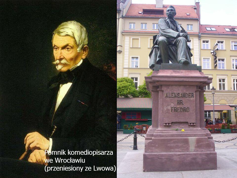 Nasz patronAleksander Fredro (1793 - 1876) - hrabia, wybitny komediopisarz, a także poeta i pamiętnikarz.