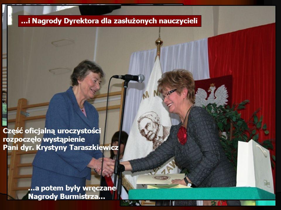 ...i Nagrody Dyrektora dla zasłużonych nauczycieli
