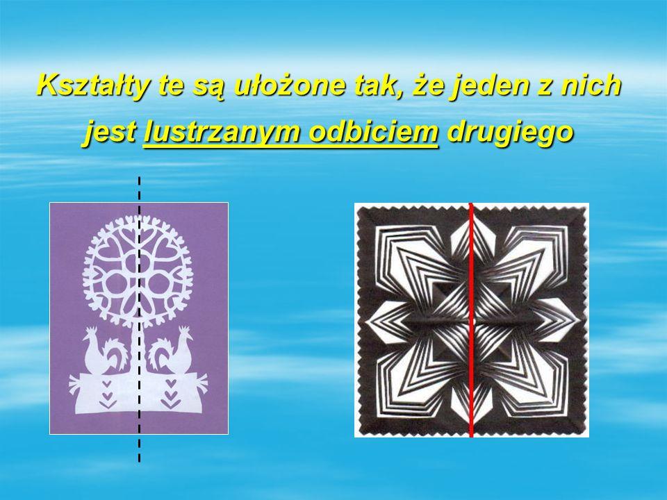 Kształty te są ułożone tak, że jeden z nich jest lustrzanym odbiciem drugiego