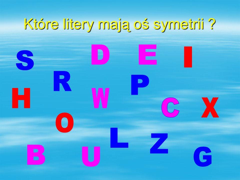 Które litery mają oś symetrii