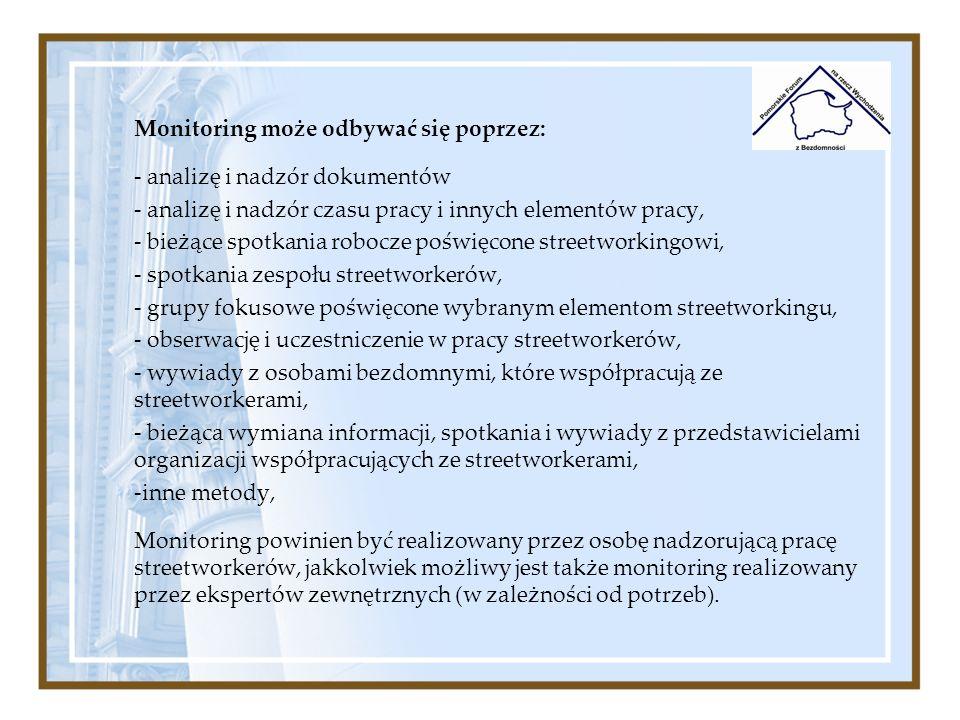 Monitoring może odbywać się poprzez: