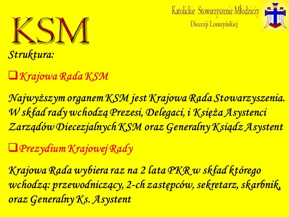 Struktura: Krajowa Rada KSM.