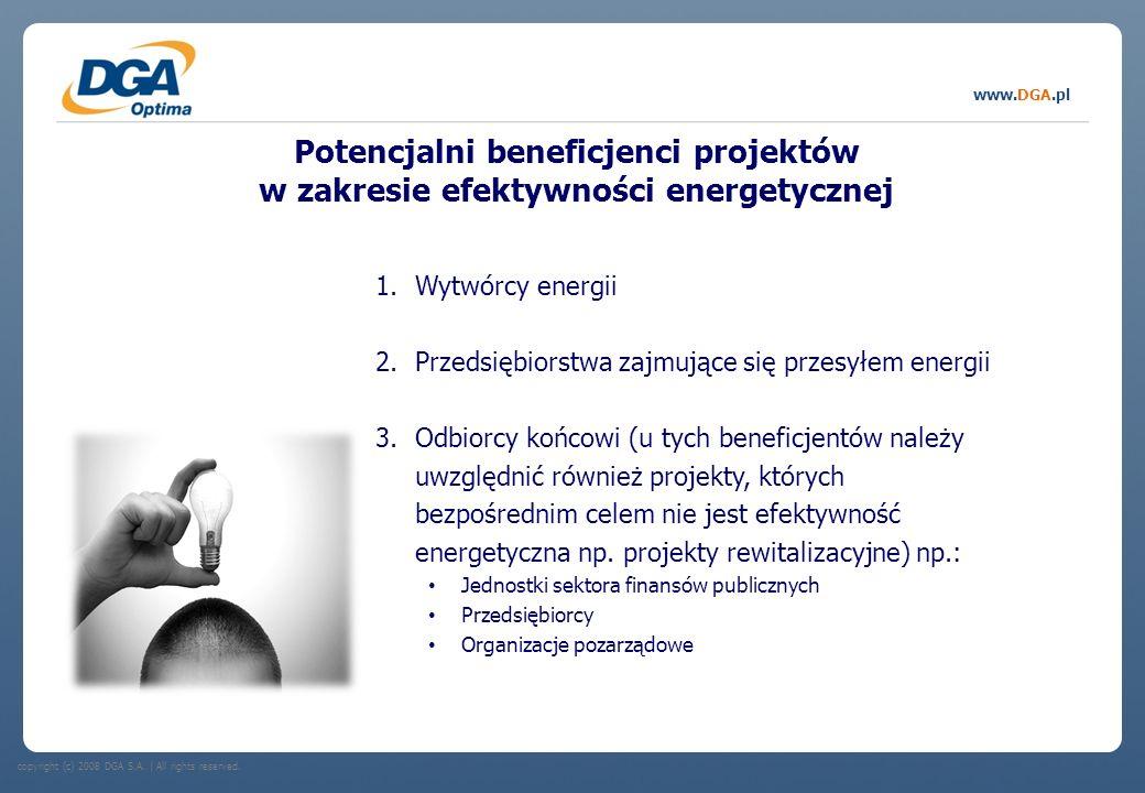 Potencjalni beneficjenci projektów w zakresie efektywności energetycznej