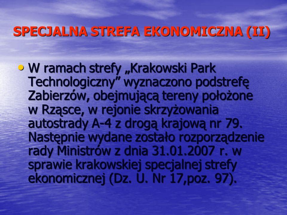 SPECJALNA STREFA EKONOMICZNA (II)