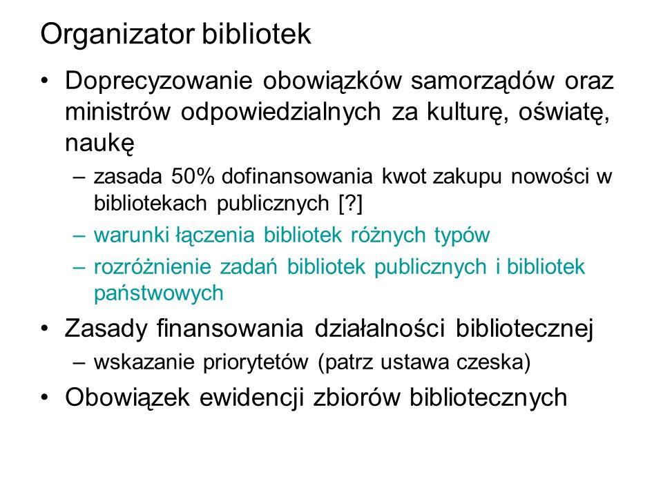 Organizator bibliotek