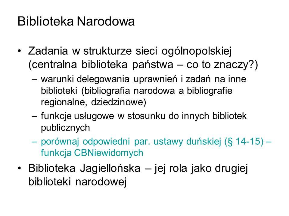 Biblioteka Narodowa Zadania w strukturze sieci ogólnopolskiej (centralna biblioteka państwa – co to znaczy )