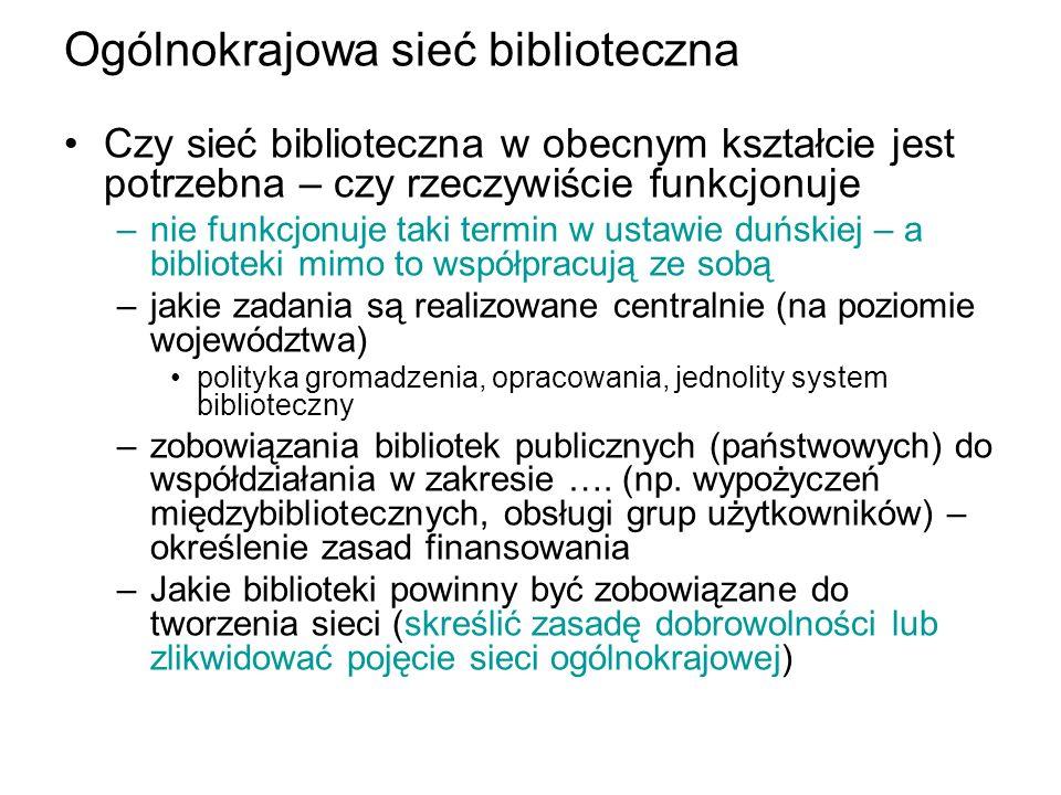 Ogólnokrajowa sieć biblioteczna