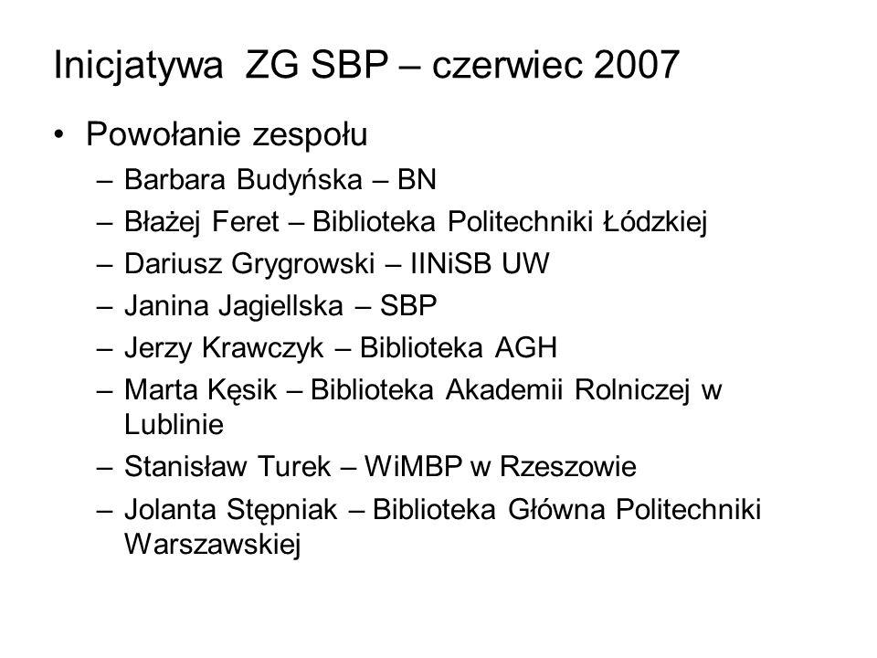 Inicjatywa ZG SBP – czerwiec 2007