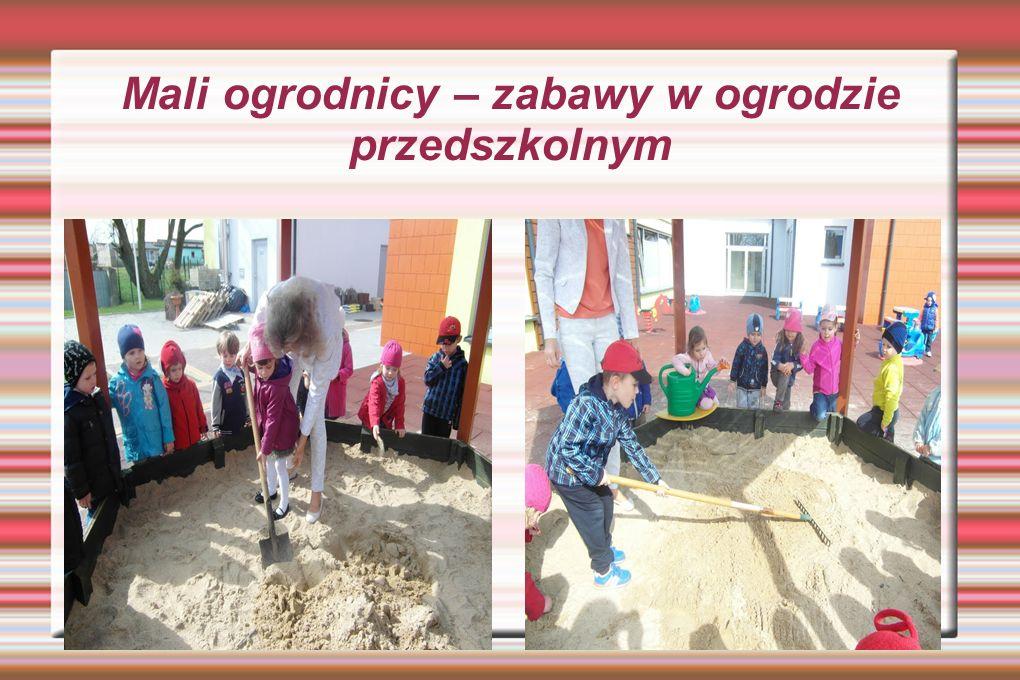 Mali ogrodnicy – zabawy w ogrodzie przedszkolnym