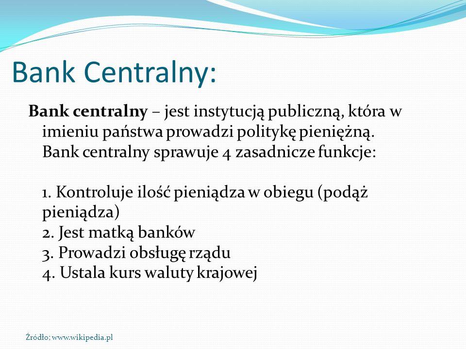 Bank Centralny: