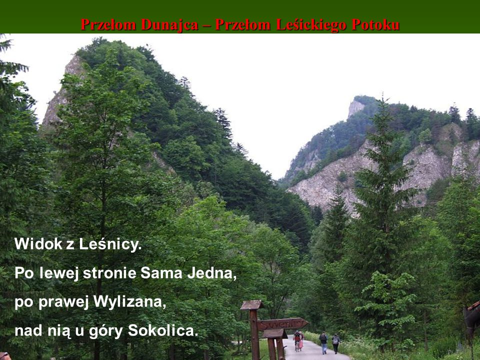 Przełom Dunajca – Przełom Leśickiego Potoku