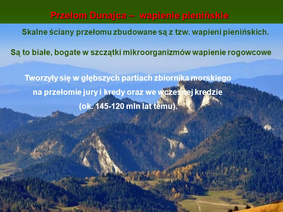 Przełom Dunajca – wapienie pienińskie