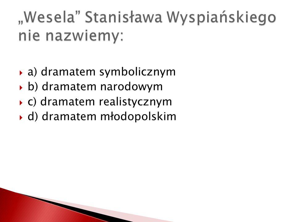 """""""Wesela Stanisława Wyspiańskiego nie nazwiemy:"""