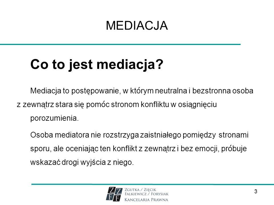 Co to jest mediacja MEDIACJA