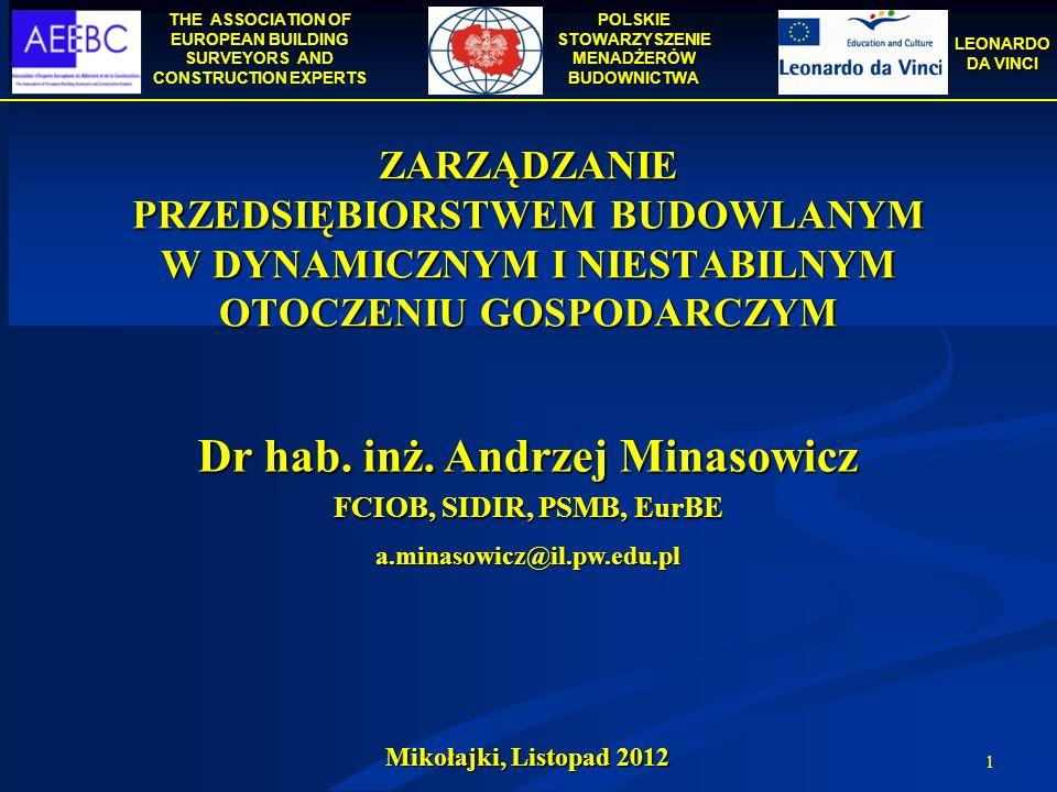 Dr hab. inż. Andrzej Minasowicz
