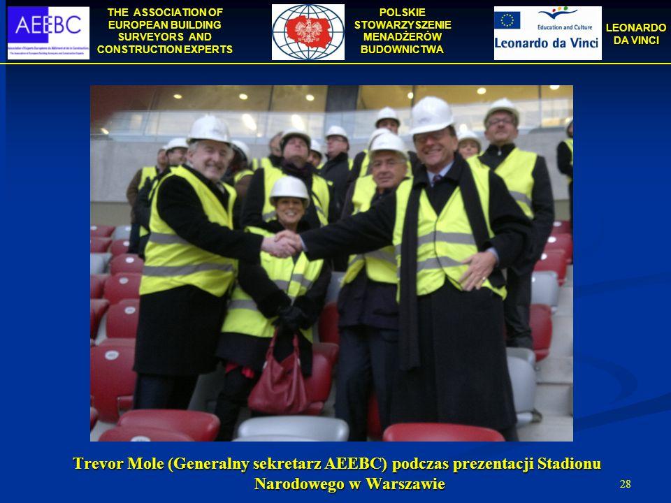 Trevor Mole (Generalny sekretarz AEEBC) podczas prezentacji Stadionu Narodowego w Warszawie