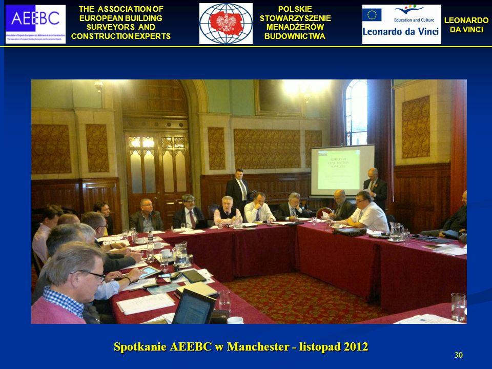 Spotkanie AEEBC w Manchester - listopad 2012