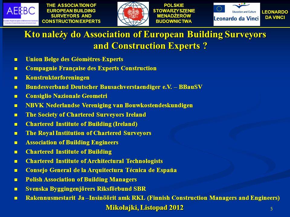 Kto należy do Association of European Building Surveyors and Construction Experts
