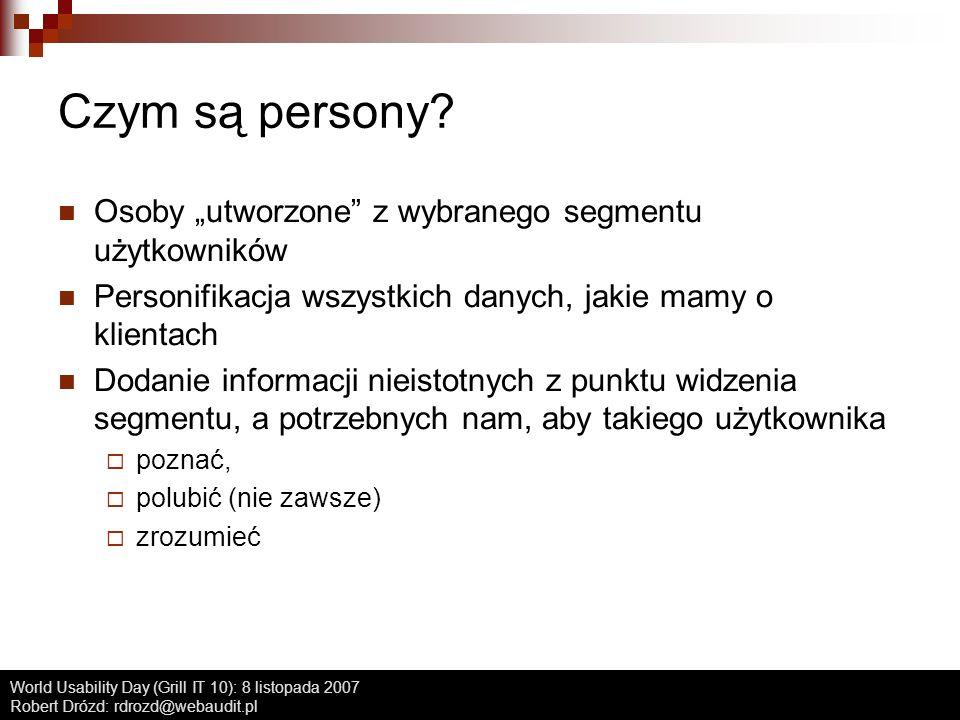 """Czym są persony Osoby """"utworzone z wybranego segmentu użytkowników"""