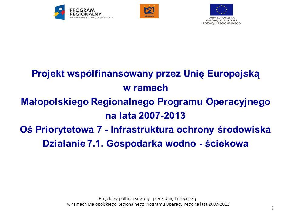 Projekt współfinansowany przez Unię Europejską w ramach