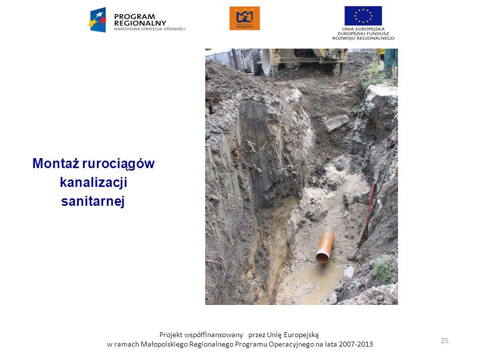 Montaż rurociągów kanalizacji