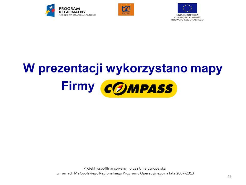 W prezentacji wykorzystano mapy Firmy