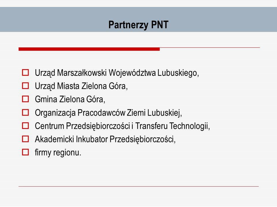 Partnerzy PNT Urząd Marszałkowski Województwa Lubuskiego,