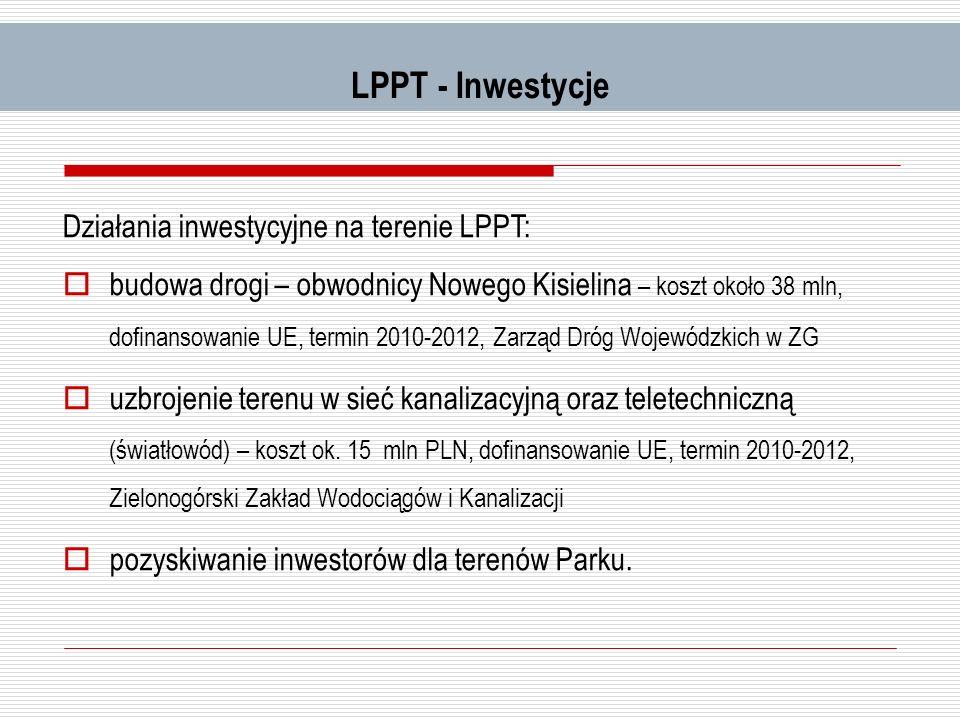 LPPT - Inwestycje Działania inwestycyjne na terenie LPPT: