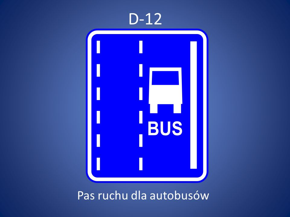 Pas ruchu dla autobusów