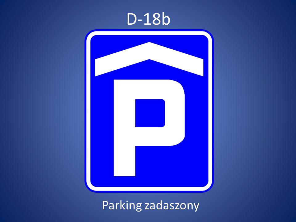 D-18b Parking zadaszony