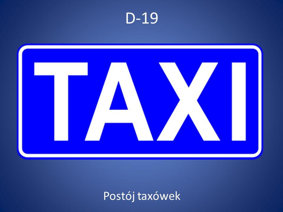 D-19 Postój taxówek
