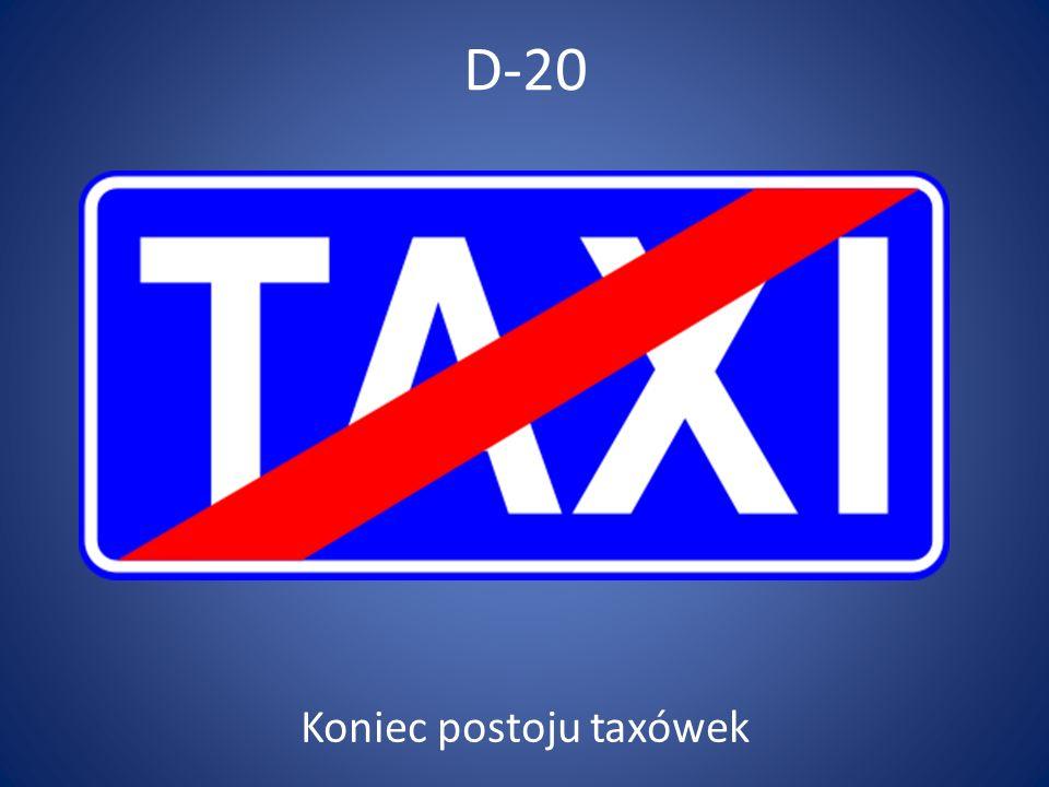 Koniec postoju taxówek