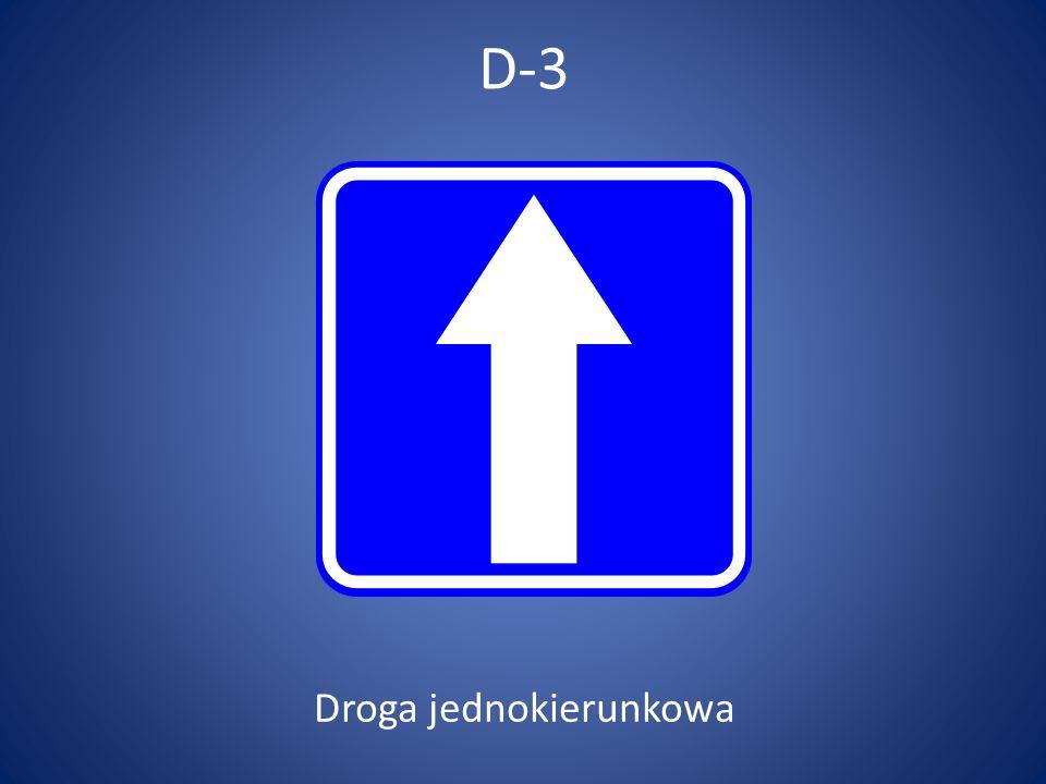 Droga jednokierunkowa