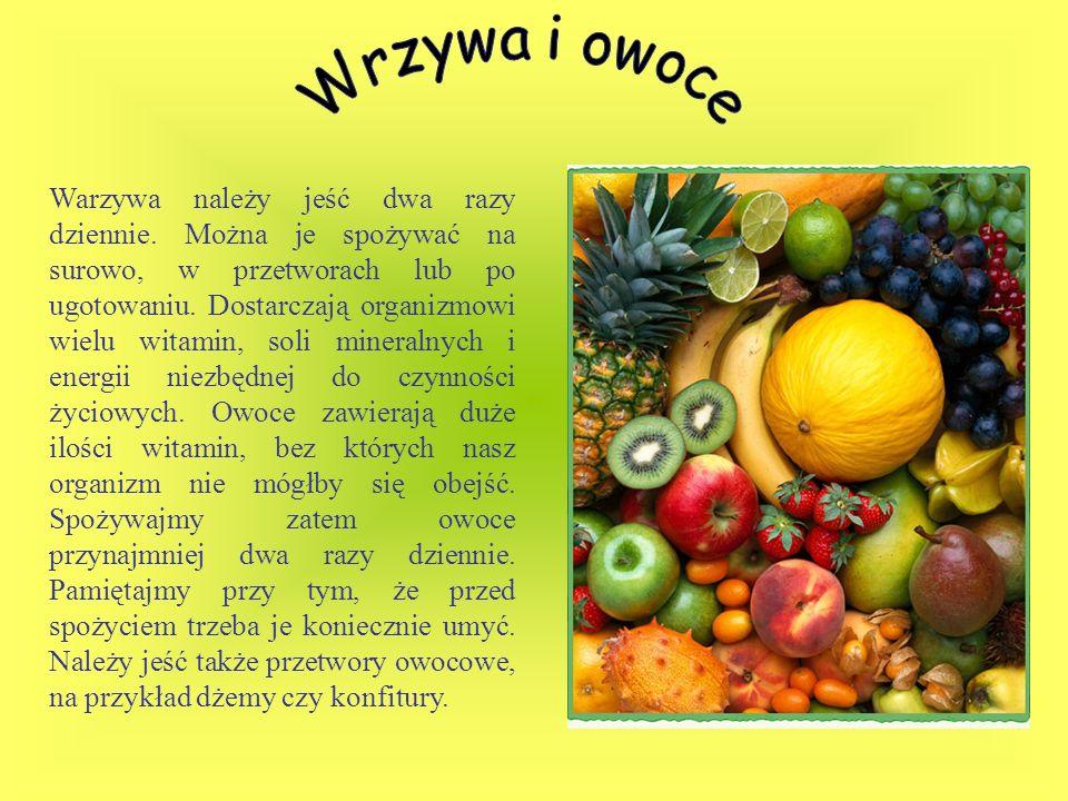 Wrzywa i owoce