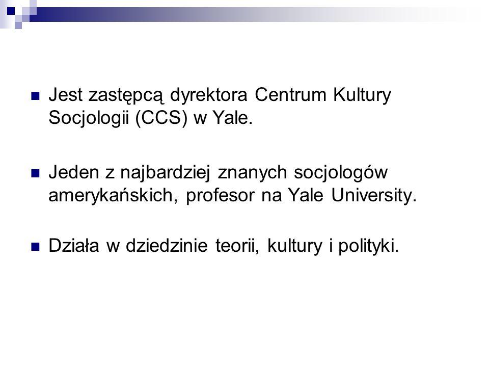 Jest zastępcą dyrektora Centrum Kultury Socjologii (CCS) w Yale.