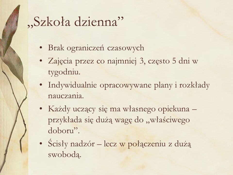"""""""Szkoła dzienna Brak ograniczeń czasowych"""