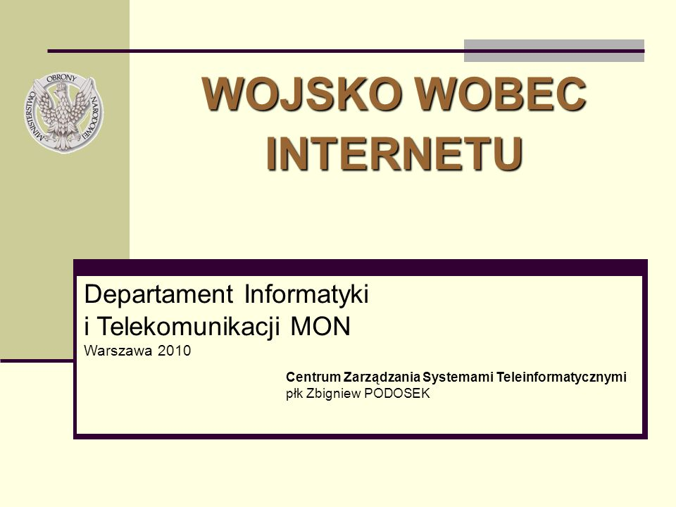 WOJSKO WOBEC INTERNETU